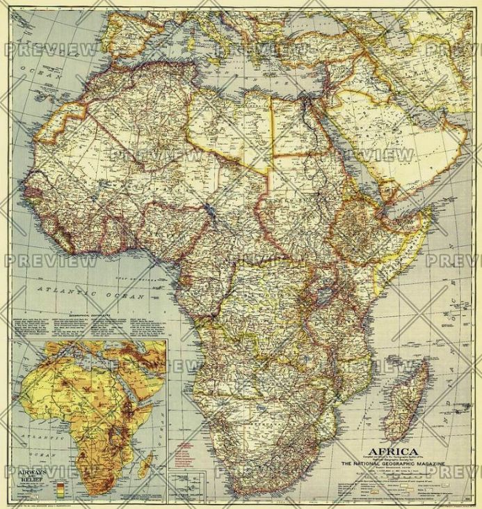 Africa - Published 1935 by National Geographic